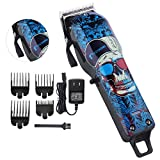 Professional Cordless Hair Clippers Beard Trimmer for Men Kids Wireless Rechargeable Hair Cutting Kit Set with Taper Lever, Detachable Cord Barber Clippers