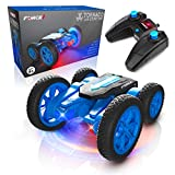 Force1 Tornado LED Remote Control Car for Kids - RC Car Double Sided Fast Off-Road Stunt RC Toy Car, 360 Flips and Spins, All Terrain Rechargeable Light Up Drifting RC Crawler with Remote and USB Cord