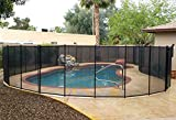VINGLI Pool Fence 4Ft x 48FtSwimming Pool Fence in Ground Life Saver Fencing, Black