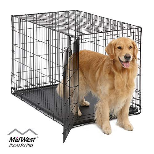 Large Dog Crate | MidWest ICrate Folding Metal Dog Crate |...