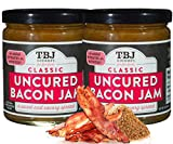 TBJ Gourmet Classic Bacon Jam - Original Recipe Bacon Spread - Uses Real Bacon, No Preservatives - Authentic Bacon Jams - 2 x 9 Ounces