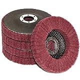 FPPO 5Pcs 4.5' x 7/8' Nylon Fiber Flap Disc Polishing Grinding Wheel,Scouring pad Buffing Wheel for Angle Grinder, Polishing Tools (Grit 320)