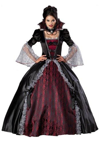 InCharacter Costumes Women's Vampiress Of Versailles Costume, Black/Burgundy, Large