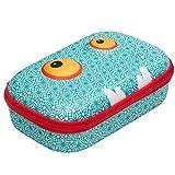 ZIPIT Beast Pencil Box for Kids, Cute Storage Case for School Supplies, Holds Up to 60 Pens, Secure Zipper Closure, Machine Washable (Blue) (ZBB-BP)