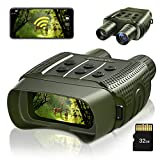 ZumYu Digital Night Vision Binoculars for Complete Darkness, Infrared Night Vision Binoculars & Goggles with WiFi for Adults Hunting, Military, Tactical, Security