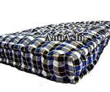 AnuAshi Box Soft Cotton Filled Cheque Style Mattress for Good Sleeping Experience (Multicolour , 6x3 ft )