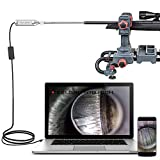 Teslong Rigid Rifle Borescope, 0.2 Inch Gun Barrel Bore Scope Camera with 21inch Rod, Side-View Mirror, Works with Windows, MacBook and Android Smart Phones