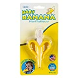 Baby Banana Yellow Banana Infant Toothbrush, Easy to Hold, Made in the USA, Train Infants Babies and Toddlers for Oral Hygiene, Teether Effect for Sore Gums, 4.33' x 0.39' x 7.87'