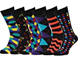 Easton Marlowe - Lot 6 paires - Chaussettes Fantaisie Homme Motif Coton Peigné - 6pk #22, mixed - neutral main colors, 39-42 EU shoe size