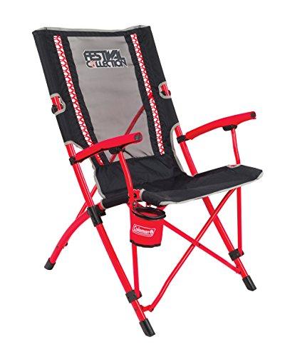 Coleman Bungee Chair Faltstuhl, Schwarz-Rot, L