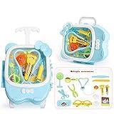 Wghz Kit de médicos para niños Juego de Roles para niños Dentista, Maleta de Juguete Juego de Herramientas Caja de Herramientas para niños Juguete de Regalo para niños, niñas y niños pequeños (Co