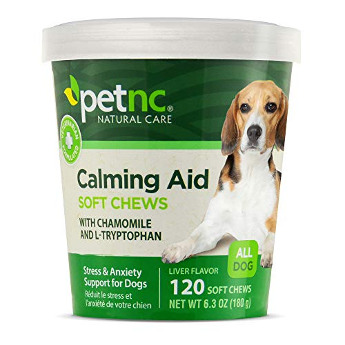 PetNC Natural Care Calming Aid Soft Chews for...