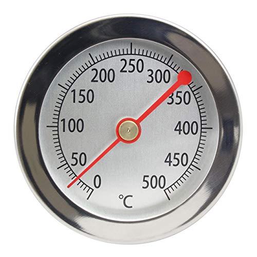 Lantelme 500 °C Grill Thermometer 15 cm Sonde Clip Edelstahl Backofen Pizzaofen Holzbackofen Analog Bimetall 4895