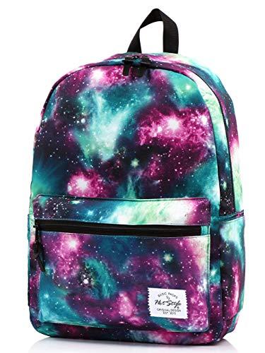 TRENDYMAX Zaino Scuola Galassia, 20 Litri, Galaxy Verde