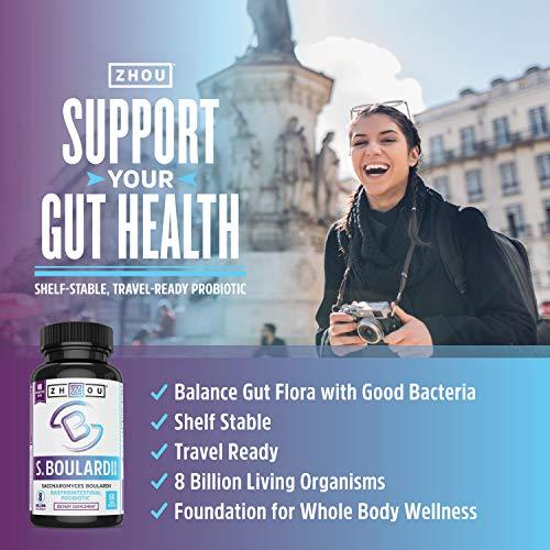S. Boulardii Probiotic - S. Boulardii Saccharomyces Boulardii Gastrointestinal, Mens & Womens Probiotics - 440 Mg, Shelf Stable Immune Support, Ultimate Flora Probiotic 2