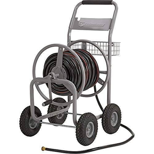 Strongway Garden Hose Reel Cart - Holds 5/8in. x...