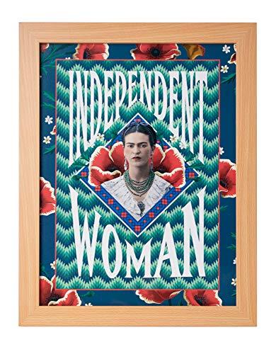 Grupo Erik Cuadro Decorativo Frida Kahlo Independent Woman, 30 X 40 Cm