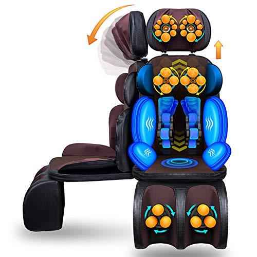 Shiatsu-Massagesitzauflage mit Wärmefunktion Massageauflage mit More Massageprogrammen für Schulter Rücken Taillie und Oberschenkelbereich für den gesamten Rücken