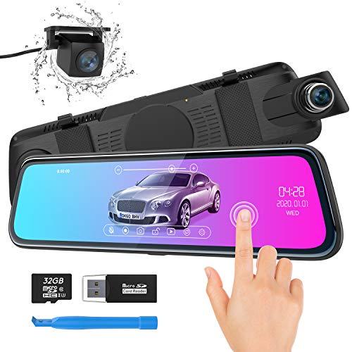 """Spiegel Dashcam, ThiEYE Autokamera Video Recorder 1080P Full HD mit 170° Weitwinkelobjektiv,10\"""" IPS Touchscreen, mit Nachtsicht, Loop-Aufnahme und G-Sensor, Parküberwachung"""