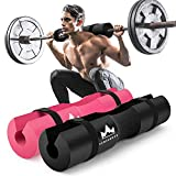 Barbell Pad Squat Pad for Lunges, Squats and Hip Thrusts Foam Sponge Pad - Provides Relief to Neck and Shoulders While Training (Black)