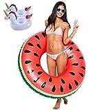 Lady of Luck Flotador Sandía, Gigante Inflables Fruto Anillo de Natación Verano El Mejor Aire Libre de la Playa Juguetes Aplicar a Niños y Los Adultos