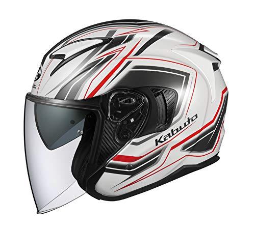 オージーケーカブト(OGK KABUTO) バイクヘルメット ジェット EXCEED CLAW(クロー) パールホワイト (サイズ:...