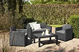 Allibert Merano Lounge Set grau Rattan - 6