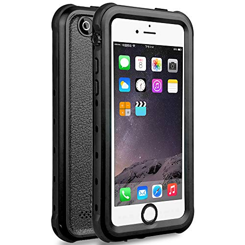 iPhone 5S / SE (2016) Waterproof Case, Dust Proof Snow Proof Shock Proof Case with Touched Transparent Screen Protector, Heavy Duty Protective Carrying Cover Case for iPhone 5 5s SE - Black