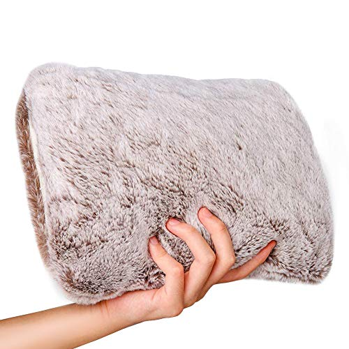 Hot Water Bottle with Soft Fleece Cover Warming Hand and Relieve Menstrual Cramps or Muscle Aches & Back Pains as Electric Heating pad for Winter Gift(Rechargeable and Portable)
