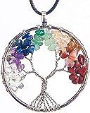 ORYCOOL Collar de árbol de la Vida con Colgante de Amatista Chakra Energy Stone...