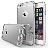 Ringke Mirror Compatible with iPhone 6 Plus Case Bright Reflection & New Scratch Resistant Radiant Luxury Mirror Case with Dust Cap & Drop Protection - Silver