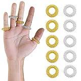 CZ Store®-Anillo de acupresión|LOTE DE 10 + 2 COLORES|✮✮GARANTÍA DE POR VIDA✮✮-Sujok...