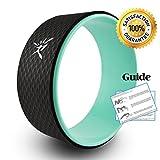 IVIM Rueda de yoga: rueda de yoga cómoda para Dharma Yoga, para posturas de yoga, rueda perfecta para estirarse, aumenta la flexibilidad, mejora la flexión hacia atrás, hembra, verde, 33 x 13 cm