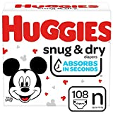 Huggies Snug & Dry Baby Diapers, Size Newborn, 108 Ct