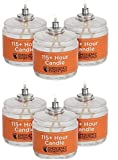 Sterno 115 Hour Plus Emergency Paraffin Candle Clear Mist (6 Pack)