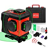 WETOLS 12 Lines Laser Level, 3x360° 3D Green Cross Line, Rechargable Li-ion Battery, Remote Controller, Switchable & Auto Self-Leveling, Three-Plane Leveling and Alignment, with Portable Toolbox
