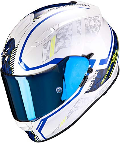 SCORPION Casque moto EXO-510 AIR Occulta Pearl White-Blue, Blanc/Bleu, L