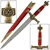 Armory Replicas King Solomon Medieval Crusader Dagger Red