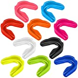 10 Pieces Sport Mouth Guards Mouthguard Gum Guard Teeth Armor Game Guard for Boxing Basketball Football Hockey Karate Basketball Lacrosse (Multiple Color)