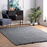 nuLOOM Hand Woven Chunky Natural Jute Farmhouse Area Rug, 3' x 5',...