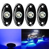 4 Pods LED Rock Lights, Ampper Waterproof LED Neon Underglow Light for...