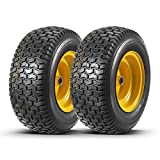 Set of 2 16x6.50-8 Tires and Wheels Assembly for Lawn Mower Tractors, Hub is 3' Long with 3/4' precision ball bearings(FITS ONLY MADE IN 2008 OR LATER MODELS)
