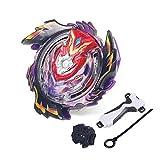 infinitoo New Toupie Burst avec Launcher Gyro Métal Super Combat| Battle Jouets Classiques pour Enfants Adulte| 1 Toupie + 1 Lanceur (Violet)