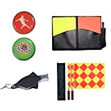 Firelong Football Soccer Referee Flags Whistle Coin and Cards - 4 in 1 Set