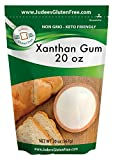 Judee's Xanthan Gum 20 oz - Non GMO, Keto Friendly, Gluten & Nut Free Dedicated Facility. Low Carb thickener for protein shakes, smoothies, gravies, salad dressings. Essential for gluten free baking.