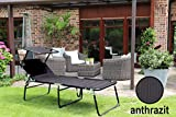Aluminium Sonnenliege XXL klappbar mit Dach bis 150 kg Klappliege 5-Fach verstellbar - 2