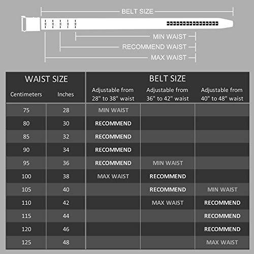 CLUBBELTS Men's Leather Ratchet Belt with Automatic Buckle, Black/White/Brown, 1 3/8 Wide, Adjustable Dress Belt for Men