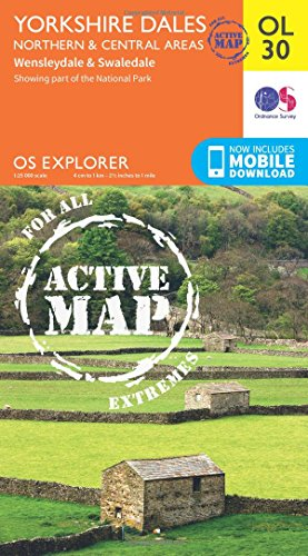 OS Explorer ACTIVE OL30 Yorkshire Dales - Northern & Central areas (OS Explorer Map Active)
