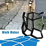 CJGQ 13.4'x13.4'x1.42' Walk Maker Reusable Concrete Path Maker Molds Stepping Stone Paver Lawn Patio Yard Garden DIY Walkway Pavement Paving Moulds (Irregular)