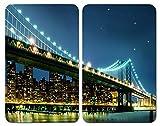 WENKO 2521320100 Protège-plaque universel Brooklyn Bridge - lot de 2, pour tous...